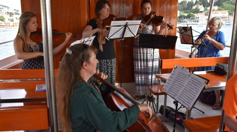 Dubrovnick, Croatia performance on a boat