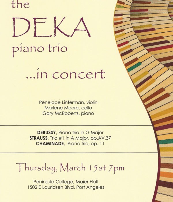 Post for The Deka Piano Trio concert